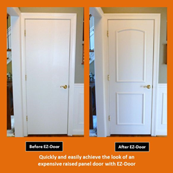 Innovative new ez door transforms interior doors quickly - Home depot interior door installation cost ...