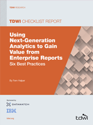 Image of the 2014 TDWI Checklist Report on Enterprise Reports