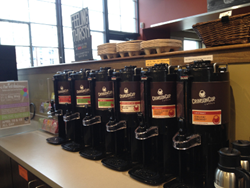 The Coffee Bar at the Hills Market Downtown Features Crimson Cup Coffee & Tea