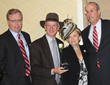 David Ring, First Niagara Bank; Ossining Village Manager Richard Leins; ArtsWestchester CEO Janet Langsam; and Westchester Deputy County Executive Kevin Plunkett at ArtsWestchester's Arts Award 2014.