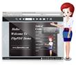 PDF page flip book