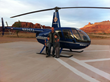 Patey boys with search helicopter