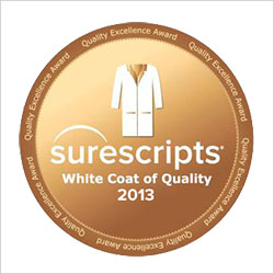 Surescripts 2013 White Coat of Quality Award