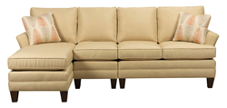 Kincaid Custom Upholstery Program Sofa with Chaise