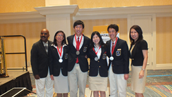 Educational Institute, high school hospitality competition, 2014 winning team from California