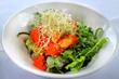 GAONNURI Spring Tasting Menu :: Munggae Bibimbap :: Mixed Rice With Sea Squirt, Seaweed Salad, Cucumber, Capelin Roe with Micro-Green