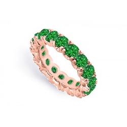 10 Carat Eternity Band in Emerald
