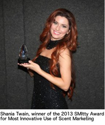 Shania Twain with her SMItty Award