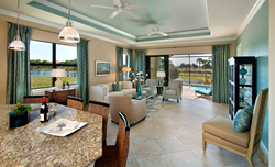 The new Cypress Point Model home in Porto Romano features a great room floorplan