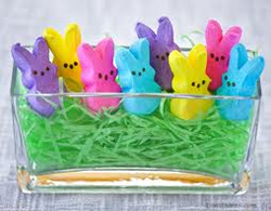 A basket-full of gluten-free peeps