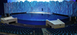 The curved panels at the Beluga whale exhibit will provide underwater views to all audience members.