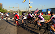 Riders begin their 2013 Face of America bicyle journey.