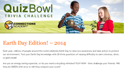 Connections Academy Quiz Bowl Trivia Challenge: Earth Day Edition screenshot