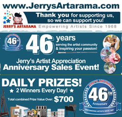 Jerry's Artarama 46th Anniversarry Sales Event