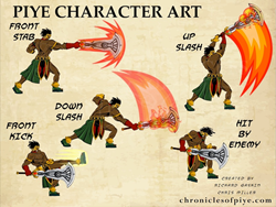 Artwork From the upcoming Piye Chronicles Mobile Game For IOS & Android