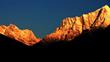 Beautiful sunrise over the Himalayas