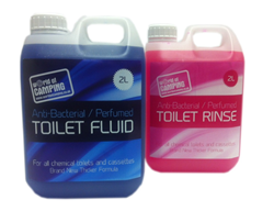 Blue 2 ltr and Pink 2 ltr Toilet Fluid Package