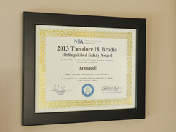 Armacell Wins a NIA Brodie Distinguished Safety Award