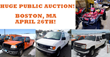Boston, MA Public Auction Of  Fleet Cars, Pickup Trucks, Vans, And More, April 26th, 2014