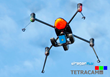 Tetracam ADC Micro on Dual Axis Stabilized Mount on Draganflyer X4-ES