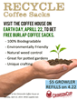 Crimson Cup Celebrates Earth Day with Coffee Bag Giveaway, Growler...