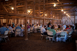 Maryland farmers held their 'Seasons on the Farm' dinner the evening of Saturday, April 12 at Serenity Farm in Benedict, benefitting the Southern Maryland Food Bank.