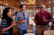 Area residents and a Maryland farmer enjoyed conversation during the 'Seasons on the Farm' dinner the evening of Saturday, April 12.
