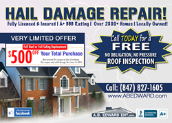 A.B. Edward Enterprises, Inc. - Hail Damage Repair
