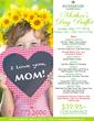 Mother's Day Buffet Menu 2014