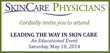 SkinCare Physicians invites you to an educational event in Boston on May 10th, 2014