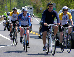 Participants on the 2013 Face of America ride.