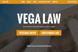 Website for personal injury attorney Daniel Vega