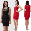 body cone piped dress