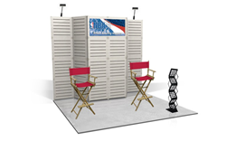 Displays and Exhibits' slatwall for trade shows