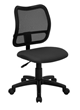 Flash Furniture Mid-Back Mesh Task Chair with Gray Fabric Seat WL-A277-GY-GG