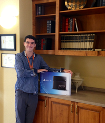 Dean Applegate Receiving the PS4