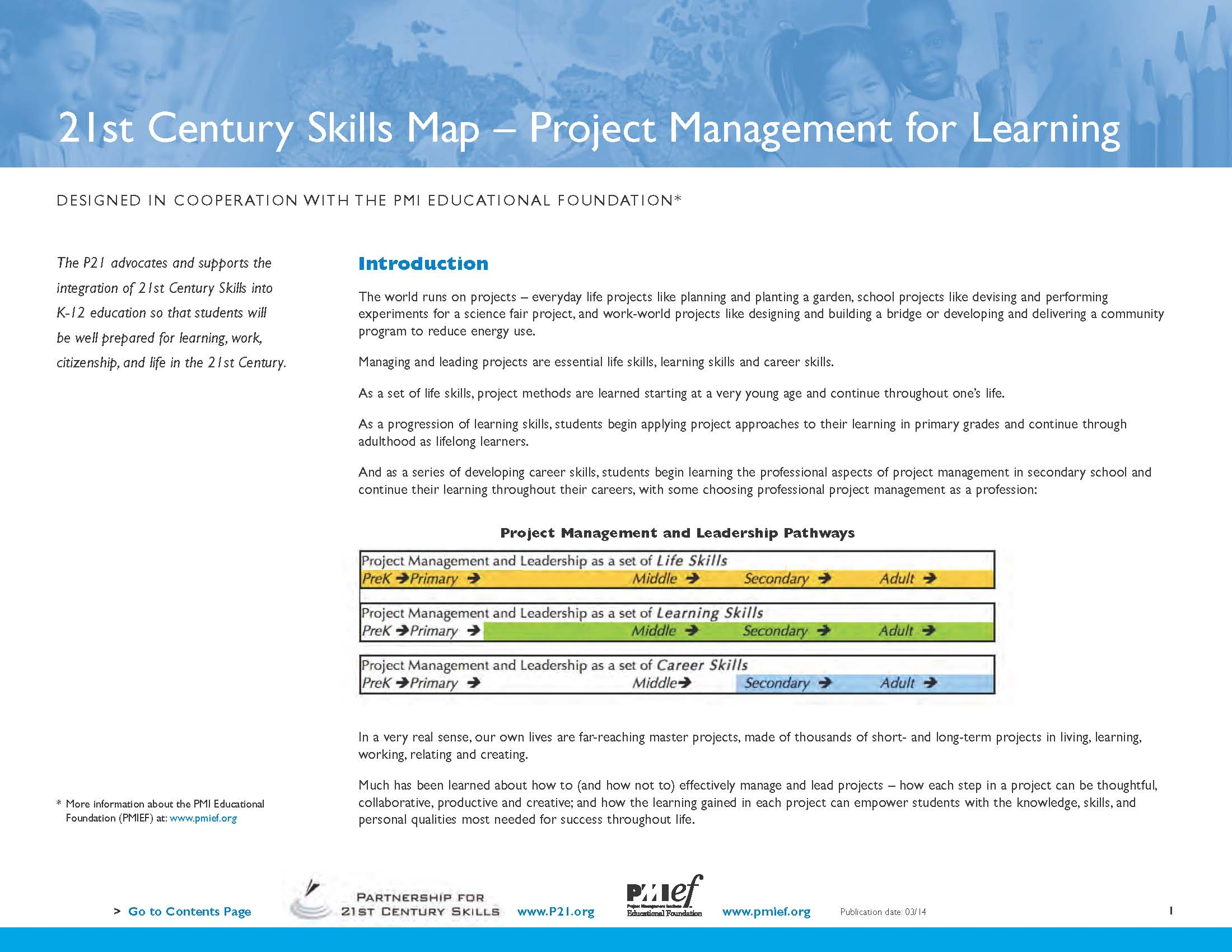 P And PMIEF Release Project Management Skills Map For Educators - P21 world languages skills map