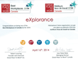 eXplorance 2014 Best Workplaces in Canada Certificate
