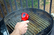 Measuring GrillGrate Temp Before Grilling