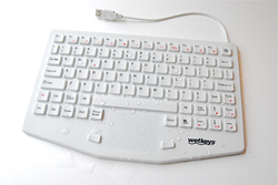 Professional Grade Medical Keyboard with Touchpad - KBWKRC87T