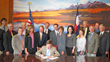 Governor John Hickenlooper signs the Architect, Professional Engineer and Professional Land Surveyor Licensing Law