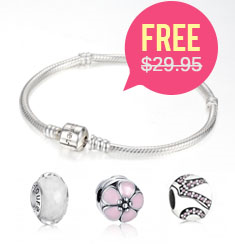 Pandora Compatible Charms from $3.99. Free Sterling Silver Bracelet On Orders Of $100+
