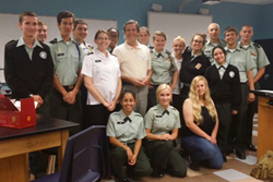 Bo Martinsen, MD, with the students of the Sarasota Military Academy
