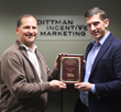 Marty Doyle (left), Director of Travel Experiences presenting Partner of the Year award to Robert Lee (right), Director of Sales for SPAINTACULAR DMC