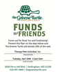 Bring this flyer to the Green Turtle to donate 20% of your bill on April 29th!