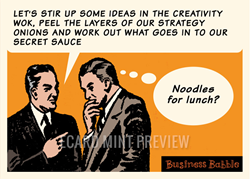 Noodles for Lunch - Humour Ecard for Business