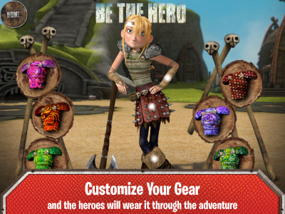 Cupcake digital brings kids along for the ride with dreamworks how to train your dragon cupcake digital customize your gearkids can choose what gear heroes wear through the adventure ccuart Image collections
