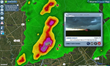 Visitors can view live video streaming from roving storm chasers.
