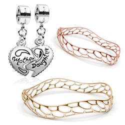 The Iris Mother's Day charms or a gleaming Morfologi Wavemaker bangle are sure to melt Mom's heart.