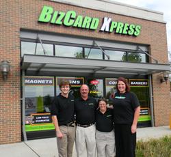 BizCard Xpress franchise location- storefront
